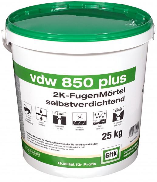 Pflasterfugenmörtel VDW 850 plus steingrau, 25 kg Eimer