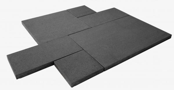 Nero Premium Black Römischer Verband, Oberfläche geflammt und gebürstet