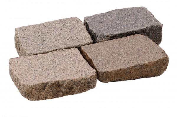 Granit Pflasterplatten Antik geflammt ca.14x20 cm, 3-8 cm stark