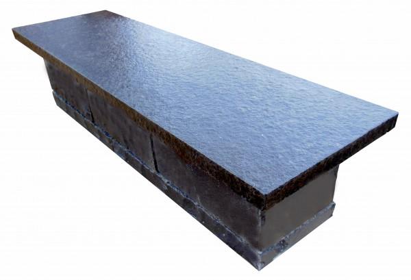 Basalt Mauerabdeckung 100/30/4 cm mit Wassernase
