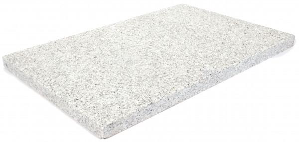 Granit Bodenplatten grau 60/40/3 cm Oberfläche geflammt, Kanten gesägt/gefast