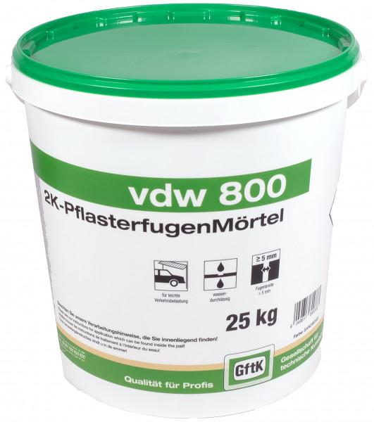 Pflasterfugenmörtel VDW 800 steingrau, 25 kg Eimer