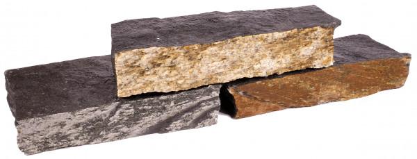 Schiefer Mauersteine braun-bunt-anthrazit 8-15/20-30/25-40 cm