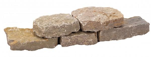 Muschelkalk Mauerstein 4-8/10-15/10-25 cm, maschinengespalten