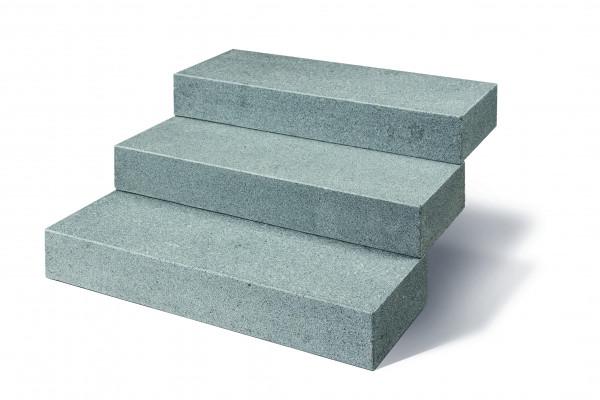 Granit Blockstufen anthrazit 15/35/100 cm allseits gesägt und geflammt