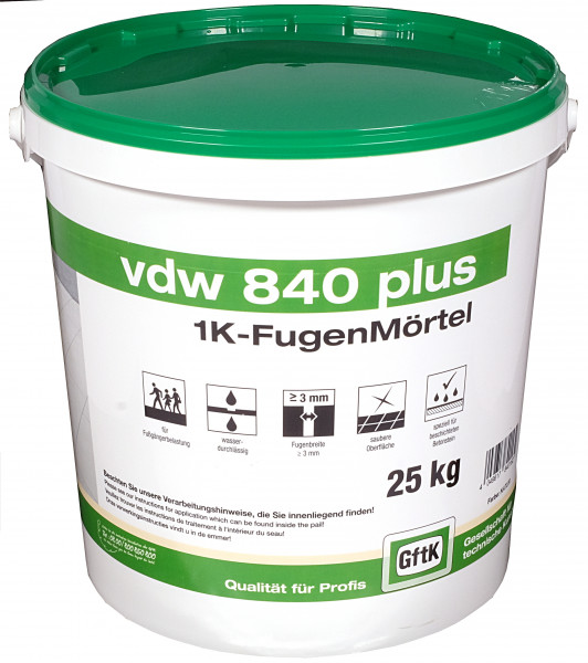 Pflasterfugenmörtel VDW 840 plus basalt, 25 kg Eimer