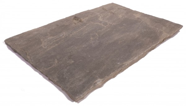 Kalahari Black Bodenplatten 60/40/2,5 cm OF spaltrau, Kanten handbekantet