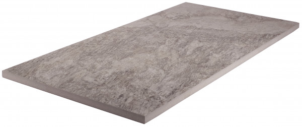 Keramik Bodenplatte Point Silver 45x90x2 cm