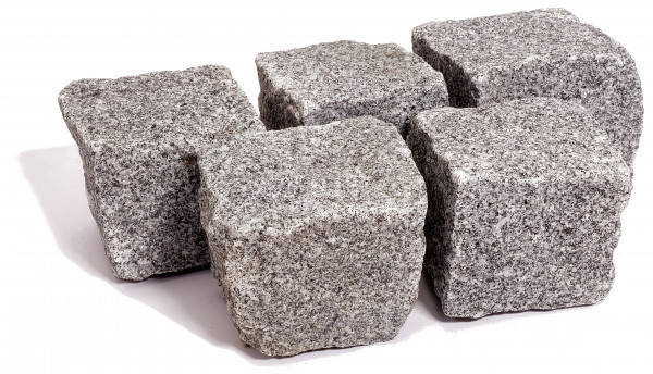 Granit Kleinpflaster anthrazit 8/11 cm gespalten