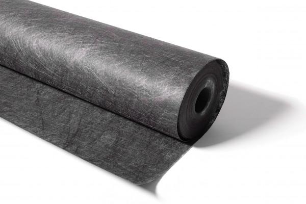 Bodenabdeckvlies 100 cm breit, 25 m Rolle, wasserdurchlässig, schwarz