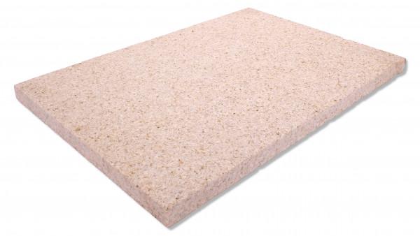 Granit Bodenplatten gelb 60/40/3 cm Oberfläche gestockt, Kanten gesägt und gefas