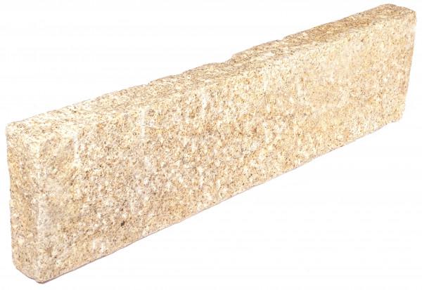 Granit Stelen gelb 8/25/100 cm rundum gespitzt