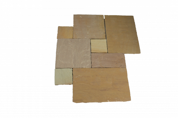 Merano Bodenplatten, Römischer Verband, Oberfläche spaltrau, Kanten handbekantet