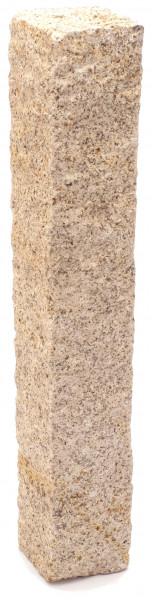 Granit Palisaden gelb 12/12/100 cmrundum gespitzt