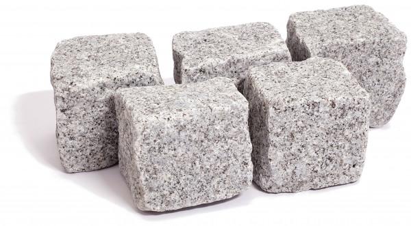 Granit Kleinpflaster grau 8/11 cm gespalten