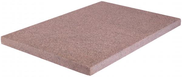 Granit Bodenplatten rot 60/40/3 cm Oberfläche geflammt, Kanten gesägt