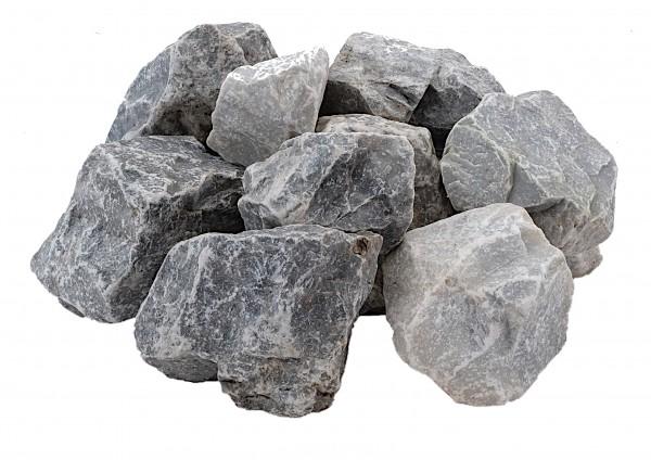 Kristallblau Marmorsplitt kristallblau 60-120 mm