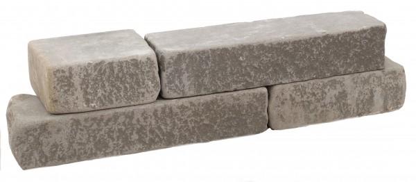 Adria Grey Mauerwerk 8/20/30-50 cm, Lagerfuge gesägt/Stoßfuge natur, getrommelt
