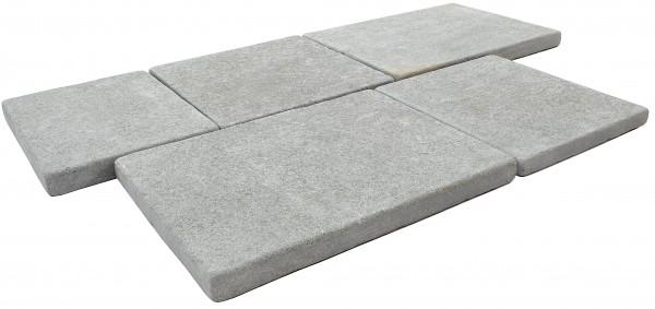 Adria Grey Bodenplatte Antik getrommelt 30/3 cm freie Längen
