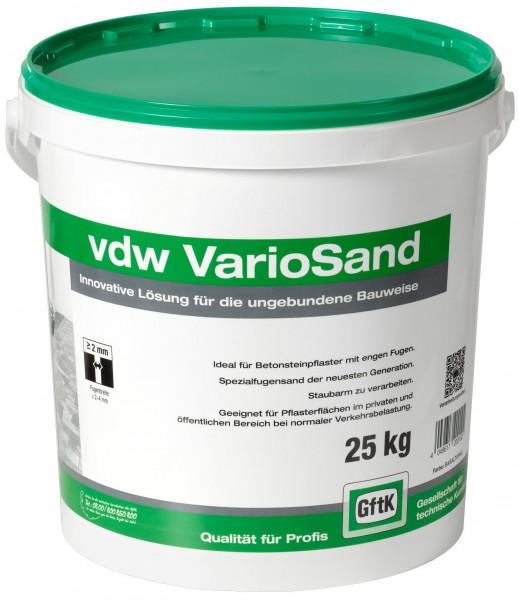 Variosand VDW basaltgrau, 25 kg Eimer