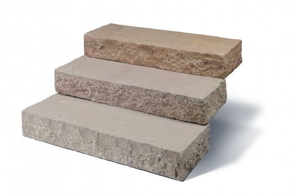 Merano Blockstufen 14-16/35/100 cm spaltrau