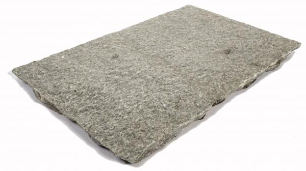 Luserna Gneis Bodenplatten grau 30/3-5 cm stark, freie Längen Oberfläche