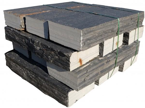 Schiefer Blockstufen 15/35/100 cm gespalten, Köpfe gesägt