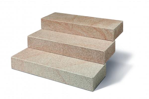 Granit Blockstufen gelb 15/35/100 cm allseits gesägt und geflammt