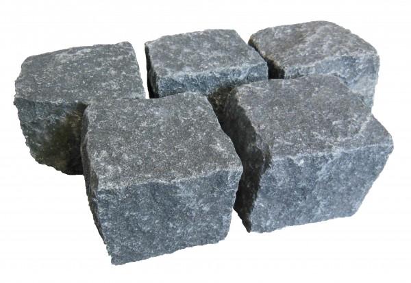 Gabbro Kleinpflaster schwarz 8/11 cm gespalten